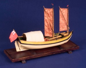 Scale model of a Gravesend Boat.  From the collection of the National Maritime Museum, Greenwich