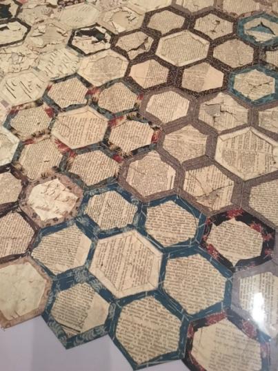 Hexagon quilt - reverse